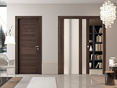 - Wood and glass pocket sliding door GEO | Pocket sliding door - Pail Serramenti