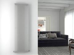 - Vertical brushed steel towel warmer GIADA VT | Brushed steel towel warmer - CORDIVARI