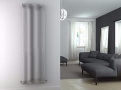 - Hot-water vertical glossy steel towel warmer GIADA VT | Glossy steel towel warmer - CORDIVARI