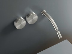 - Wall mounted set of 2 individual taps with adjustable spout GIO 12 - Ceadesign S.r.l. s.u.