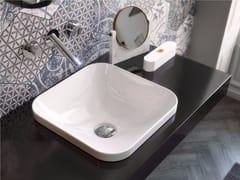 - Lavabo da incasso soprapiano quadrato in ceramica GIÒ EVOLUTION | Lavabo quadrato - Hidra Ceramica