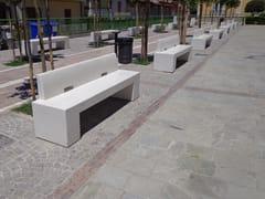 Panchina in materiale composito in stile moderno con schienaleGIOTTO | Panchina con schienale - MANUFATTI VISCIO