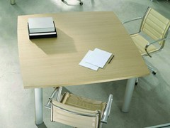 - Square melamine-faced chipboard office desk GIOVE G14W - Arcadia Componibili - Gruppo Penta