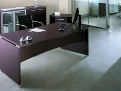 - Rectangular melamine-faced chipboard office desk GIOVE G20LW - Arcadia Componibili - Gruppo Penta