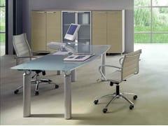 - Crystal office desk GIOVE G20VP - Arcadia Componibili - Gruppo Penta