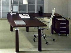 - L-shaped executive desk GIOVE G20WD - Arcadia Componibili - Gruppo Penta