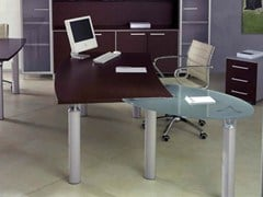 - L-shaped executive desk GIOVE G20WP - Arcadia Componibili - Gruppo Penta