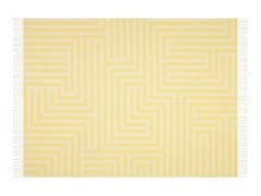 - Merino wool blanket with graphic pattern GIRARD WOOL MAZE PATTERN - Vitra