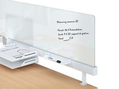 - Modular glass workstation screen desktop partition NEW PORT | Glass workstation screen - MANADE