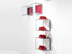- Open tempered glass wall cabinet GLASSBOX | Open wall cabinet - EmmeBi