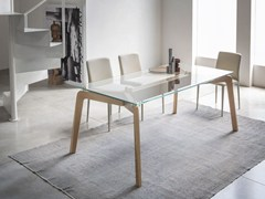 - Rectangular wood and glass living room table GLIDE | Rectangular table - RIFLESSI