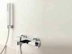 - Wall-mounted bathtub mixer with hand shower GLITTER | Single handle bathtub mixer - RUBINETTERIE RITMONIO
