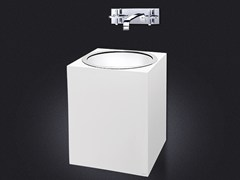 - Wall-mounted resin washbasin GLOSS | Resin washbasin - Vallvé Bathroom Boutique