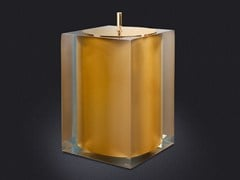 - Resin bathroom waste bin GOLD GLOSS | Bathroom waste bin - Vallvé Bathroom Boutique