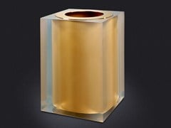 - Resin bathroom waste bin GOLD GLOSS | Resin bathroom waste bin - Vallvé Bathroom Boutique