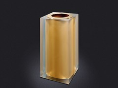 - Resin bathroom waste bin GOLD GLOSS SMALL | Resin bathroom waste bin - Vallvé Bathroom Boutique