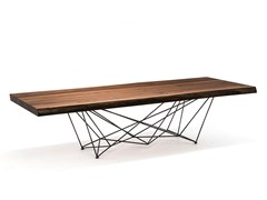 - Rectangular walnut table GORDON DEEP WOOD - Cattelan Italia
