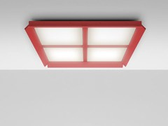 - LED Ceiling mounted extruded aluminium panel light GRADIAN 1200 X 1200 | Ceiling mounted panel light - Artemide Italia