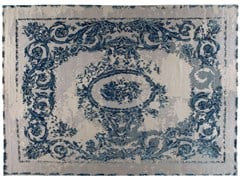 - Patterned handmade rectangular rug GRAND PALAIS - Golran
