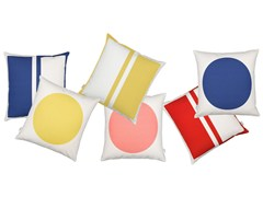 - Square geometric cushion GRAPHIC PRINT RECTANGLES/CIRCLE - Vitra