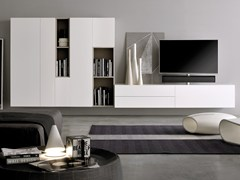 - Sectional TV wall system GRAPHOS WIDE | Storage wall - Silenia