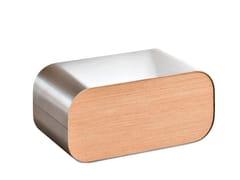 Poggiapiedi in acciaio inox e legnoGREEN FIRST   Poggiapiedi - MALETTI