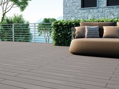 - Composite material outdoor floor tiles with wood effect EXTERNO GREY - Woodco
