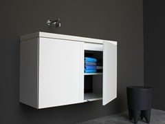 - Lacquered wall-mounted vanity unit with doors GRID | Vanity unit with doors - Not Only White