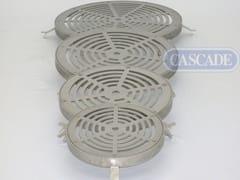 Piastra inox drenante per fontana a pavimentoGriglie drenanti - CASCADE