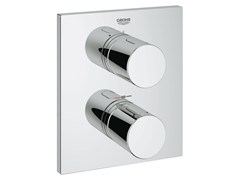 - 2 hole thermostatic shower mixer with plate GROHTHERM 3000 COSMOPOLITAN | Thermostatic shower mixer - Grohe