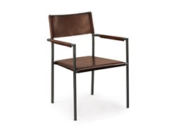 - Leather chair with armrests GUFO | Chair with armrests - Oliver B.