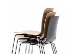 - Stackable wooden chair HAL PLY TUBE STACKABLE - Vitra