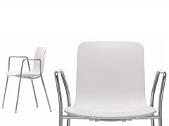 - Stackable polypropylene chair with armrests HAL CAFETERIA - Vitra