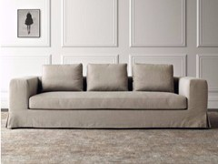 - 3 seater fabric sofa with removable cover HAMPTONS | 3 seater sofa - Casamilano
