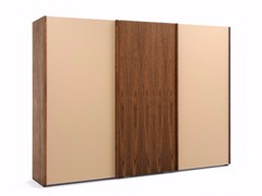 - Wood and glass wardrobe with sliding doors HANGAR LIGHT WOOD + GLASS | Wood and glass wardrobe - Riva 1920