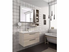 - Wall-mounted vanity unit with drawers HARLEM H14 - LEGNOBAGNO