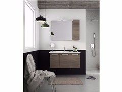 - Wall-mounted vanity unit with doors HARLEM H19 - LEGNOBAGNO