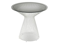 - Tavolo da giardino rotondo in acciaio e cristallo HEAVEN | Tavolo rotondo - EMU Group S.p.A.