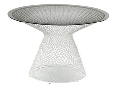 - Round crystal and steel garden table HEAVEN | Round table - EMU Group S.p.A.
