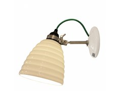 - Adjustable porcelain wall lamp with fixed arm HECTOR BIBENDUM - Original BTC