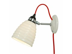 - Adjustable porcelain wall lamp with fixed arm HECTOR BIBENDUM PLUG - Original BTC