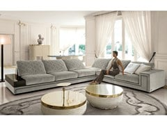 - Corner sectional fabric sofa HELMUT | Fabric sofa - Longhi