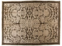 - Patterned handmade rectangular rug HERMITAGE - Golran