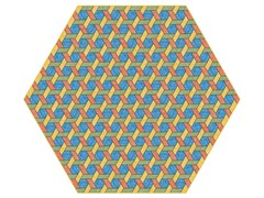 - Rug with geometric shapes HEXAGON MULTI - Moooi©