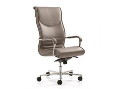 - High-back executive chair with 5-spoke base with armrests PULCHRA | High-back executive chair - Emmegi