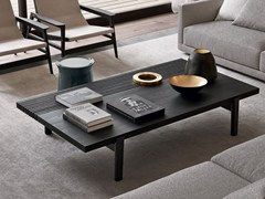 - Low rectangular wood veneer coffee table HOME HOTEL | Rectangular coffee table - Poliform