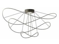LAMPADA DA SOFFITTO A LED A LUCE DIRETTA E INDIRETTA CON DIMMERHOOPS BLACK - PLHOOPS3 - AXOLIGHT