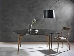 - Round solid wood table HOPE | Round table - Pacini & Cappellini