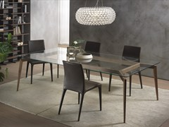 - Rectangular wood and glass table HOPE | Wood and glass table - Pacini & Cappellini