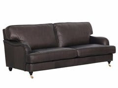 - Upholstered 3 seater leather sofa HOWARD | Leather sofa - SITS